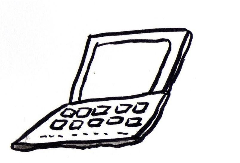 Bild gemalt Computer