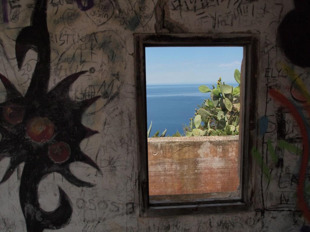 Fenster Grafitti Meer