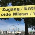 Banner am Eingang zum Oktoberfest