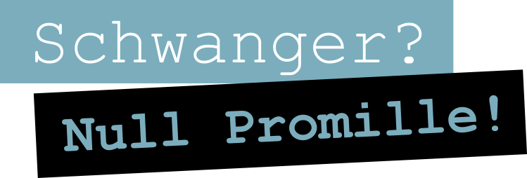Schwanger-Null-Promille-LOGO Teil 1, die Textmarke