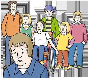 Kind wird von anderen Kindern ausgeschlossen