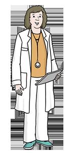 Illustration einer Ärztin
