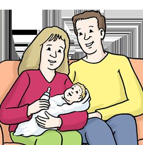 Glückliches Paar mit Baby