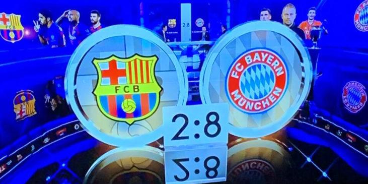 Endergebnis vom Spiel FC Barcelona gegen FC Bayern