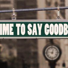 Zeit Abschied zu nehmen